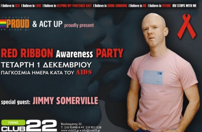 Act Up & Cyberdykes Present Jimmy Somervile. Day Against Aids @ Club 22