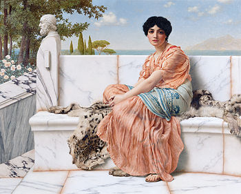 350px-godward-in_the_days_of_sappho-1904