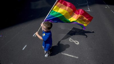 gay flag kid