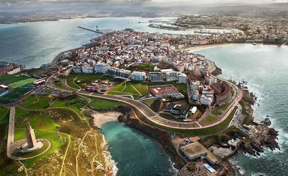H πόλη της La Coruña