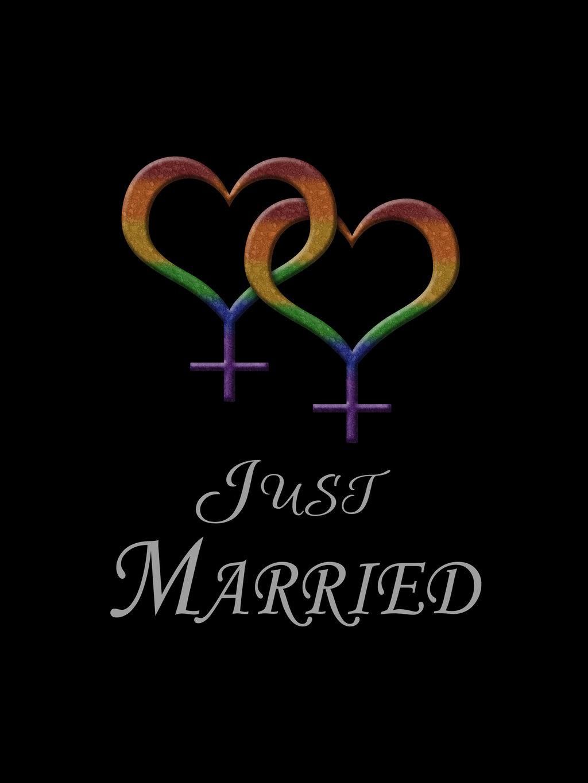 just_married_lesbian_pride_by_lovemystarfire-d6vx945