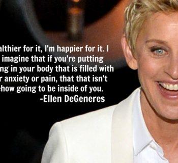 Ellen DeGeneres, λεσβιες, χορτοφαγια, ζωα, βιομηχανια τροφιμων, lesbian, vegan, vegeterian