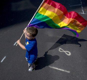 gay flag kid